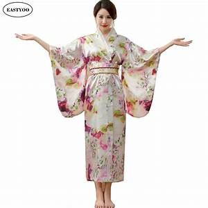japanese silk robes women bathrobes long dressing gown With robe coton femme