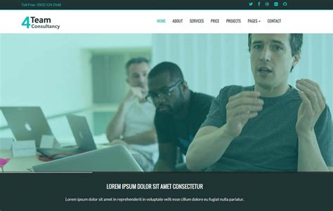 consulting website template webthemez