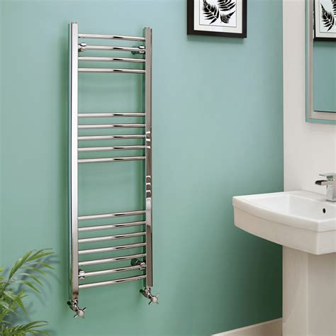 towel rail heated heat chrome curved 1200 eco 400mm rails