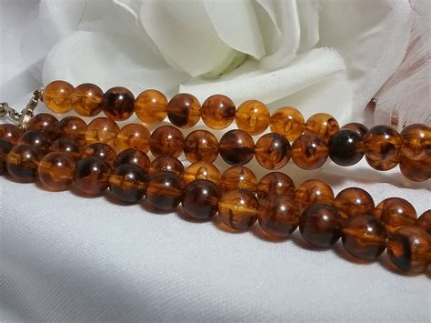 amber cameo victorian revival necklace