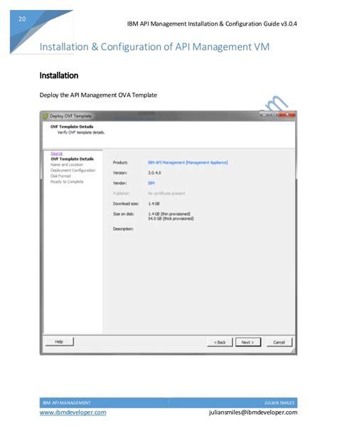 ibm api management installation and configuration guide