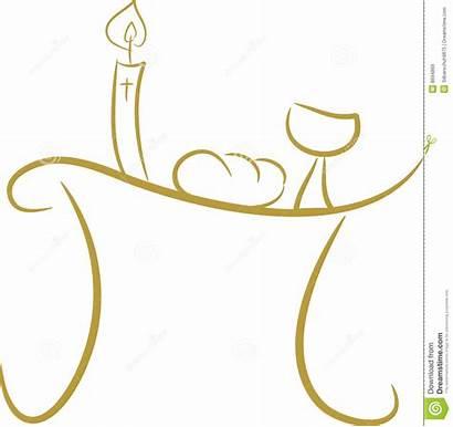 Communion Table Clipart Ii Bread Wine Cross
