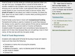 proof of funds transactional funding proof of funds With transactional funding proof of funds letter