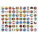 Flags Flag Icons Sets Flat Circular Country