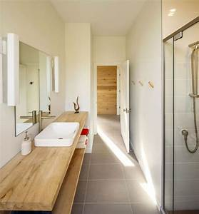 idee decoration salle de bain plan de travail de salle With plan bois salle de bain