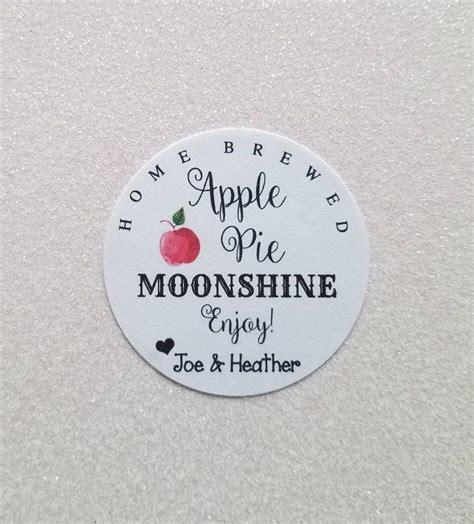 Apple Pie Moonshine Wedding Favor Stickers Mason Jar