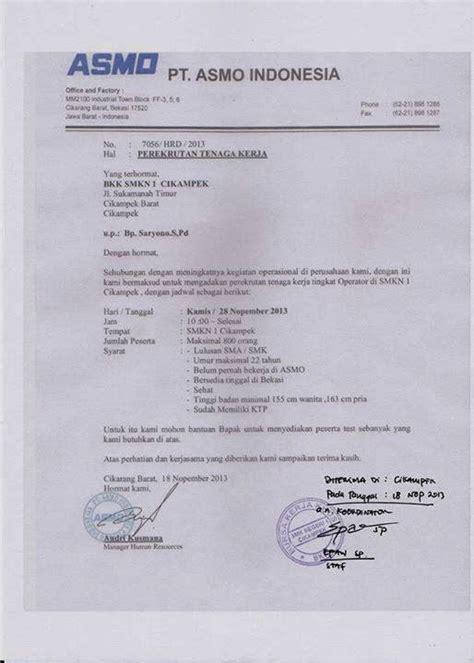 lowongan pt asmo indonesia loker purwasuka