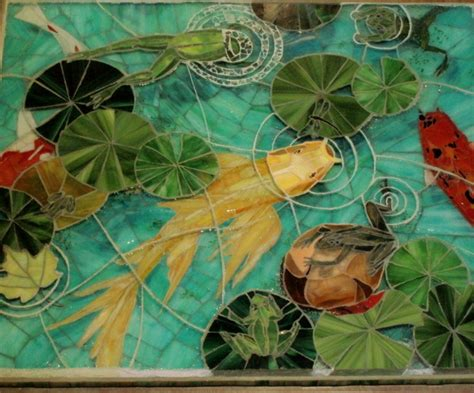 mosaic table top kit 38 best mosaic water lilies and fish images on pinterest
