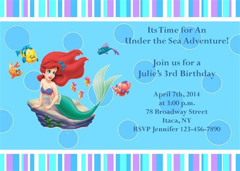 printable  mermaid party invitations