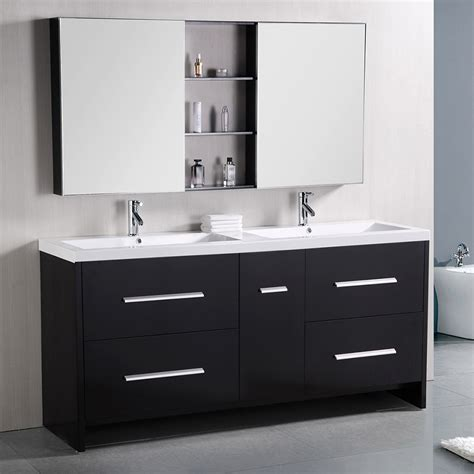 "Donovan 72"" Double Sink Vanity Set  Zuri Furniture"