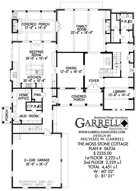 split ranch floor plans moss cottage house plan courtyard house plans