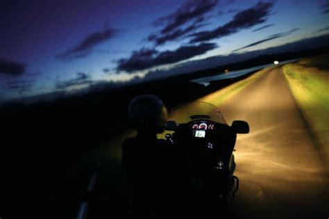 Motorcycle Riding At Night