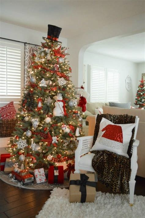 plaid christmas tree ideas plaid    style