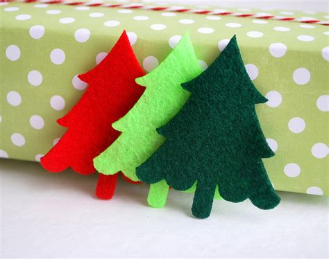 24 felt trees die cut 24 christmas tree die cut 2 5