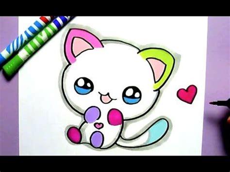 dibujos de gatos kawaii dibujos para colorear
