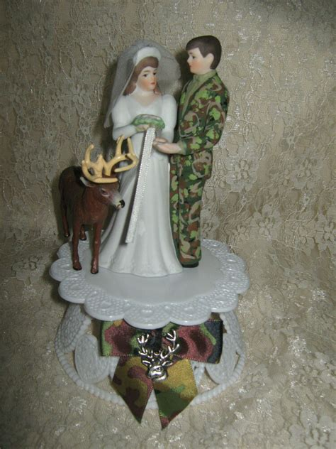 hunter buck deer camo groom wedding cake topper ebay