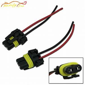 2pcs Universal 9006 Adapter Wiring Harness Sockets Wire