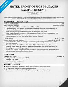 Medical Office Receptionist Resume Sample Hotel Front Office Manager Resume Resumecompanion Com