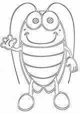 Cockroach Coloring Pages Print sketch template