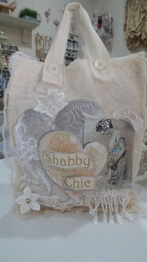 shabby fabrics quarter tote handmade shabby chic muslin fabric tote bag created by msgardengrove1 belles images