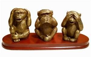 Statue Singe De La Sagesse : 3 singes de la sagesse chine informations ~ Teatrodelosmanantiales.com Idées de Décoration
