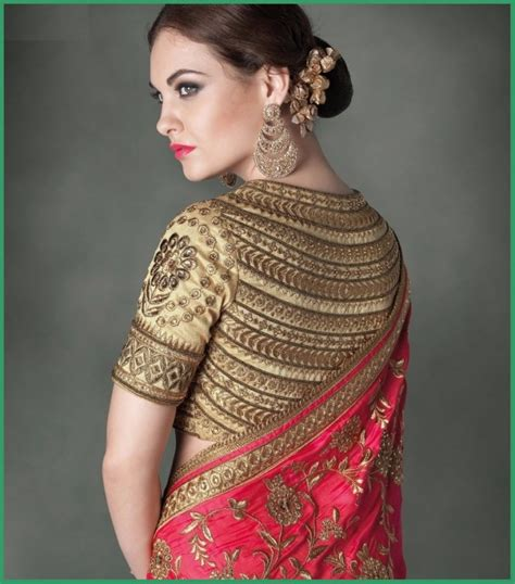 plain saree with designer blouse sarees blouse back neck designs with borders for 2016