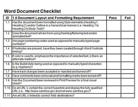 docs checklist template 27 blank checklist templates sle templates