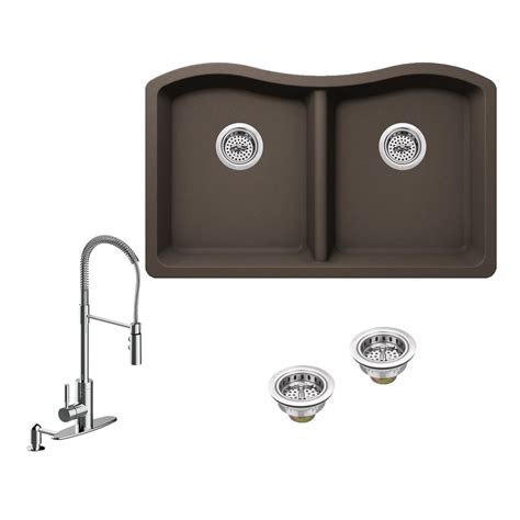 kitchen sink company ipt sink company all in one undermount granite composite 2634