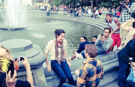 york city marriage proposal ideas    cheesy