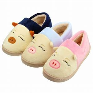 Cartoon children shoes indoor floor non slip slippers warm for How to keep shoes from slipping on floor
