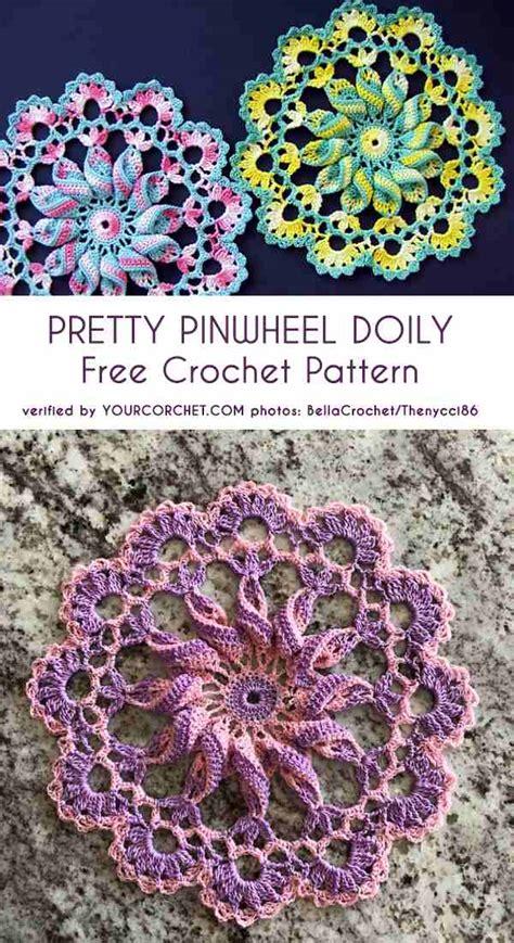 pretty pinwheel doily  crochet pattern