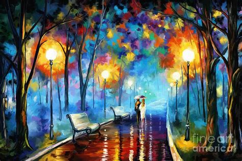 a walk in the park painting by tim gilliland
