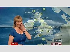 Weathergirl laughs at wardrobe malfunction