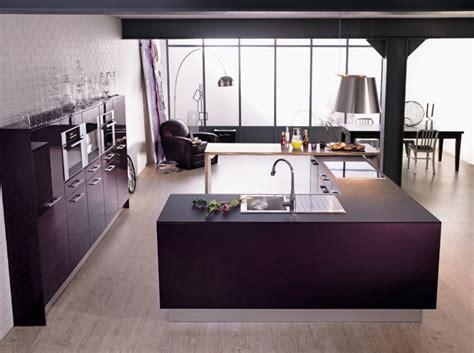 deco cuisine design cuisine couleur aubergine inspirations violettes en 71 idées