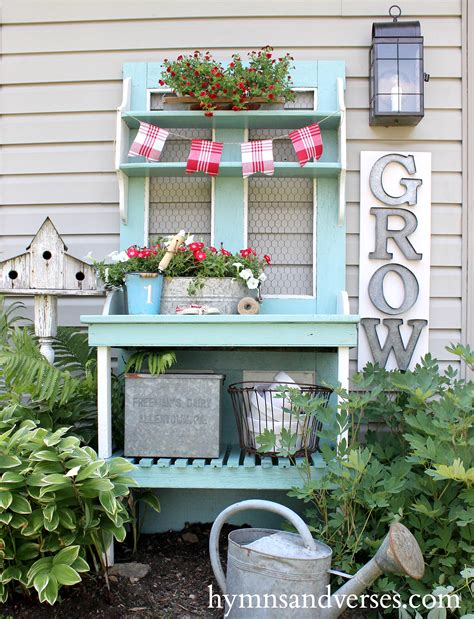 outdoor potting bench outdoor decor potting bench hymns and verses