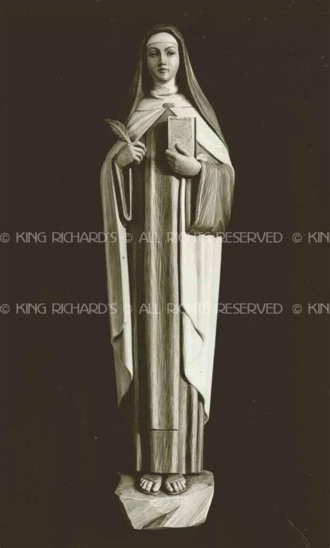 St-Teresa-of-Avila - New Hand Carved Marble, Wood, or