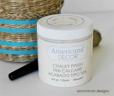 americana decor chalky finish paint lace diy stripe painted baskets uncommon designs