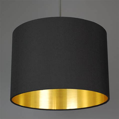 Gold Lined Lamp Shades by Brushed Gold Lined Lamp Shade Choice Of Colours By Quirk
