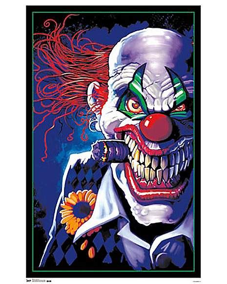 spencers black light posters stogie clown blacklight poster spencer s