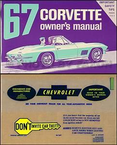 1967 Corvette Sting Ray Owner U0026 39 S Manual Package Reprint 67