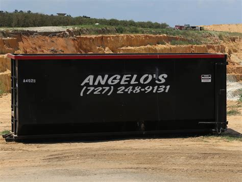 rolloff dumpster service angelos recycled materials