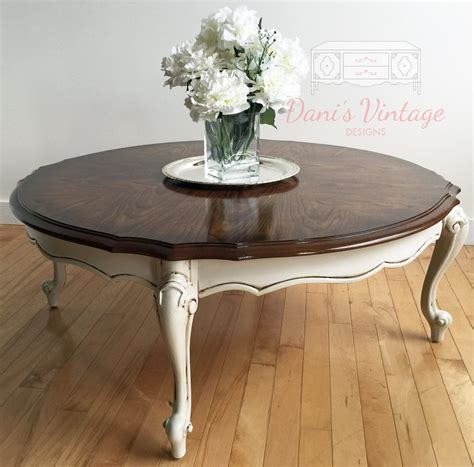This little chef greets me every. French Provincial Round Coffee Table | White round coffee ...