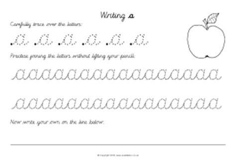 cursive letter formation teaching resources printables