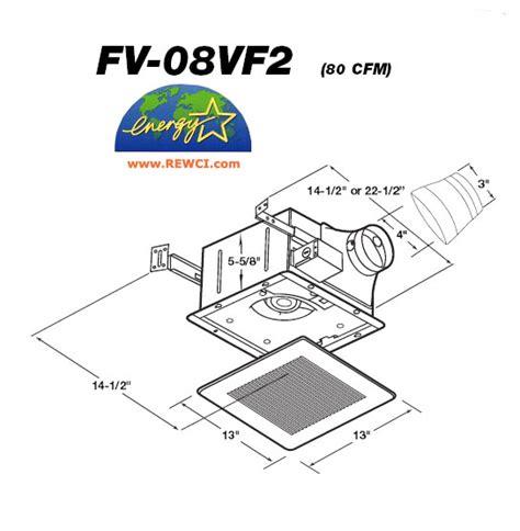 panasonic fv 08vf2 whisperfit bathroom exhaust fan