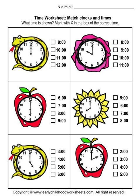 17 best images about telling time worksheets on