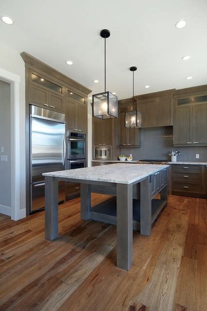Gray Stained Cabinets by Grey Stained Kitchen Contemporary Kitchen Calgary
