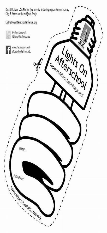 Afterschool Bulb Event Lights Vibrant Reproducible Convey