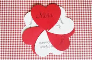 menu original mariage menu mariage ou noel coeurs original et personnalisable noël et mariage