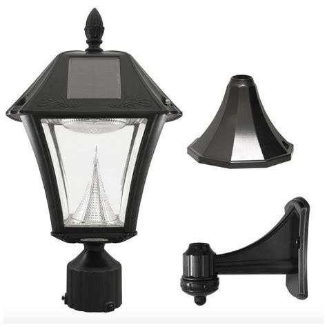led post light bulb solar led black outdoor street post pole wall mount light