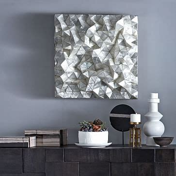 Capiz Wall Art   Faceted Square   west elm